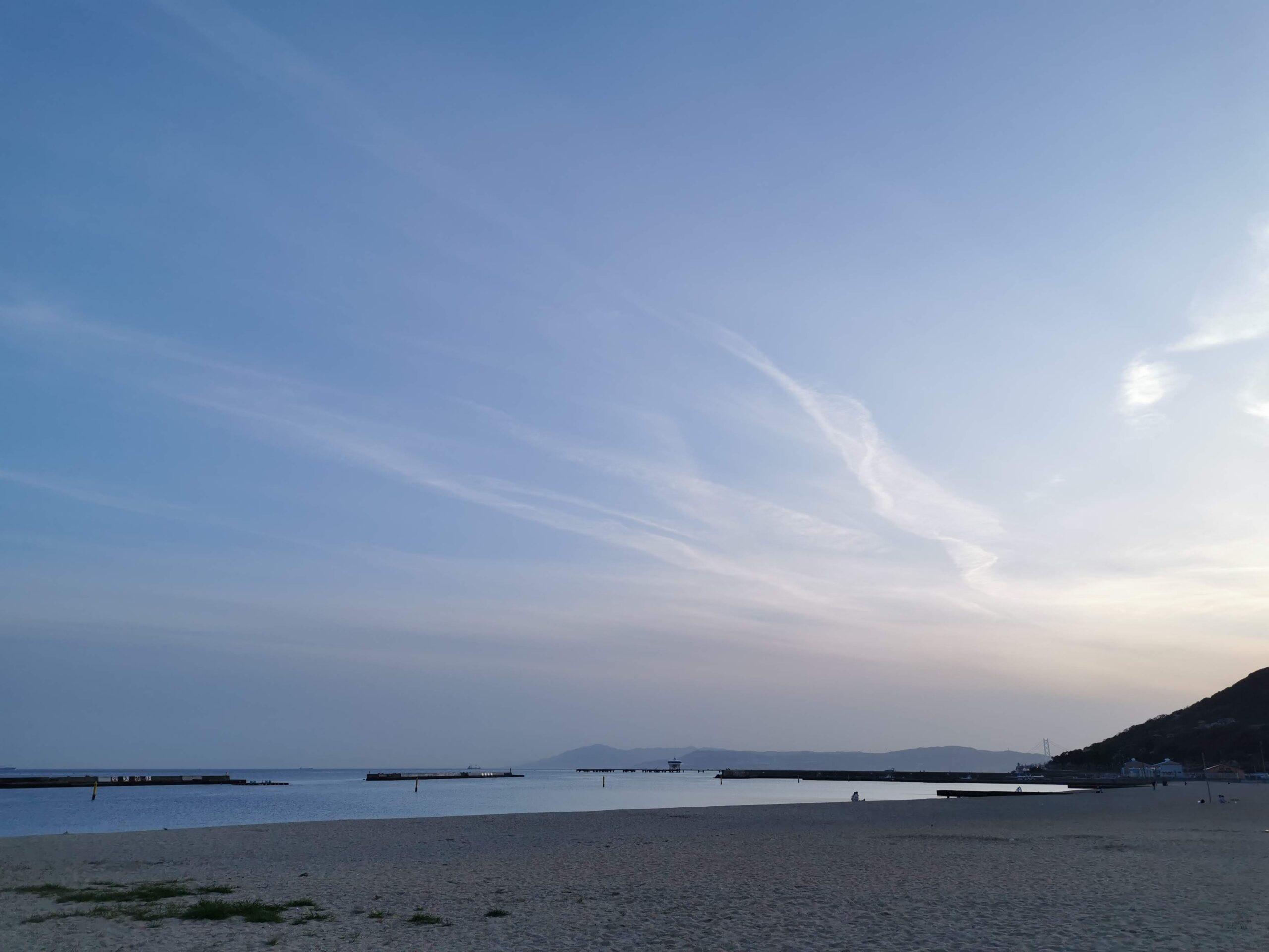 須磨海岸、夕さんぽ。